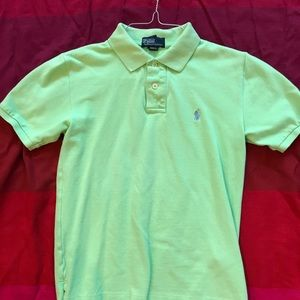 Polo by Ralph Lauren lime green M (10-12)